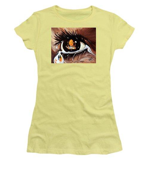 Dark Sorrow  Women's T-Shirt (Junior Cut) by Jackie Carpenter