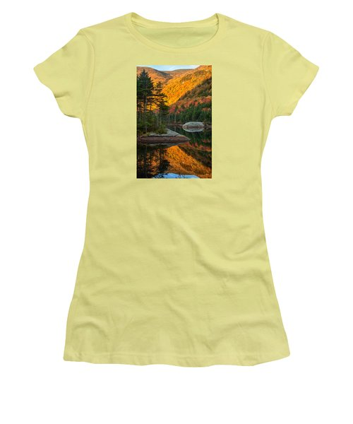 Dawns Foliage Reflection Women's T-Shirt (Athletic Fit)