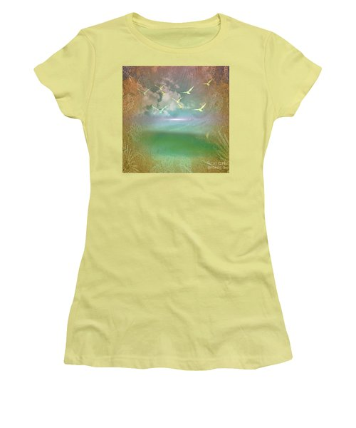 Day At The Beach Abstract Women's T-Shirt (Athletic Fit)