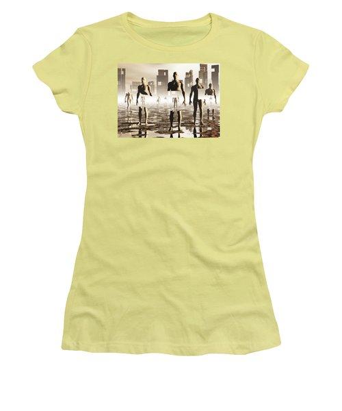 Women's T-Shirt (Junior Cut) featuring the digital art Deconstruction by John Alexander