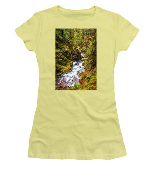 Women's T-Shirt (Junior Cut) featuring the photograph Deep In The Forest by Ken Stanback