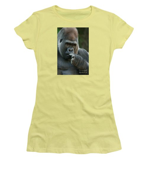 Deep In Thought Women's T-Shirt (Junior Cut) by Judy Whitton