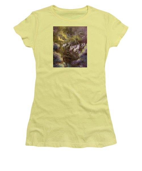Deep Peace Women's T-Shirt (Junior Cut) by Jack Malloch
