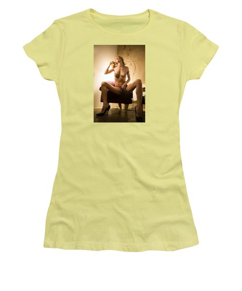 Women's T-Shirt (Junior Cut) featuring the photograph Deep Thoughts by Mez