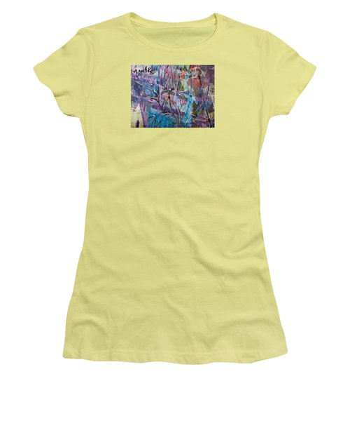 Deer In Magical Forest Women's T-Shirt (Athletic Fit)