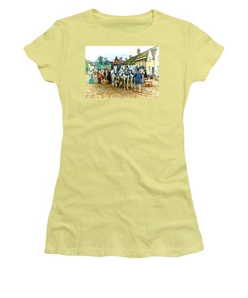Departing Cranford Women's T-Shirt (Junior Cut) by Paul Gulliver