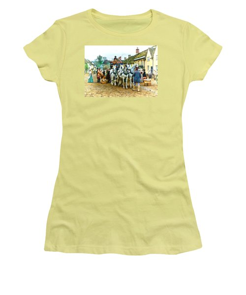Departing Cranford Women's T-Shirt (Athletic Fit)