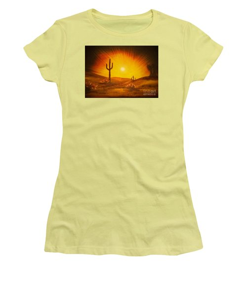 Desert Aglow Women's T-Shirt (Athletic Fit)