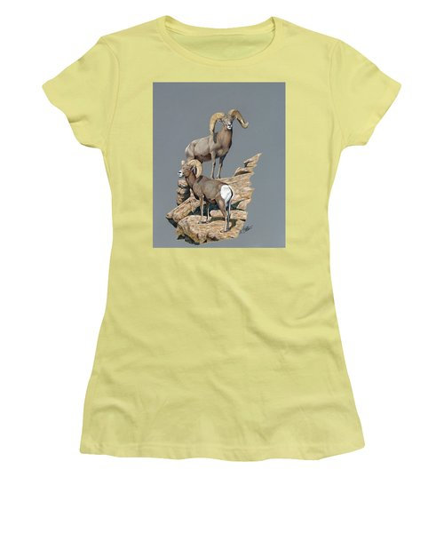 Desert Bighorn Rams Women's T-Shirt (Athletic Fit)