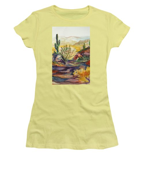 Desert Color Women's T-Shirt (Athletic Fit)