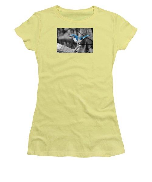 Dial Blue Women's T-Shirt (Junior Cut) by VLee Watson