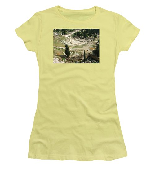Dionysus Amphitheater Women's T-Shirt (Athletic Fit)