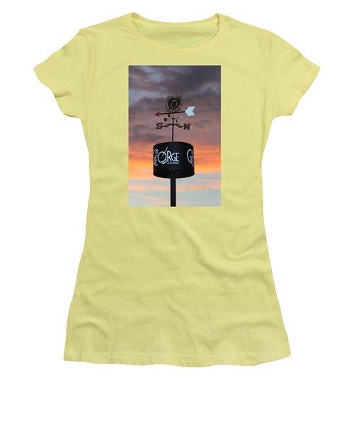 Women's T-Shirt (Junior Cut) featuring the photograph Direction by Cynthia Guinn
