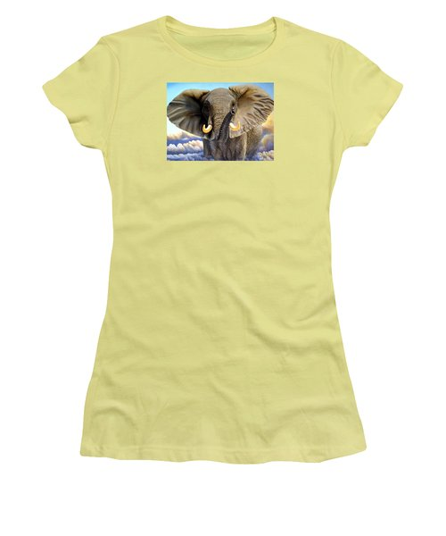 Da108 Distant Thunder By Daniel Adams Women's T-Shirt (Athletic Fit)