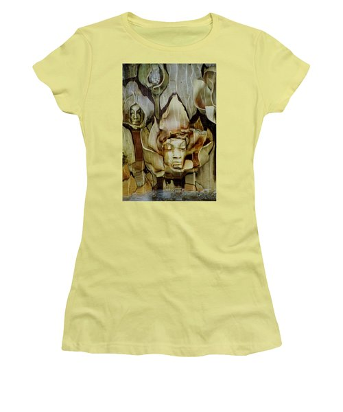 Women's T-Shirt (Junior Cut) featuring the photograph Distortion by Penny Lisowski