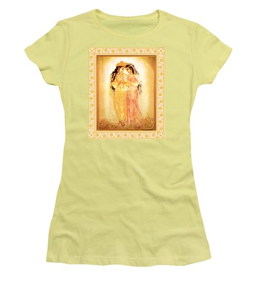 Women's T-Shirt (Junior Cut) featuring the mixed media Divine Love by Ananda Vdovic
