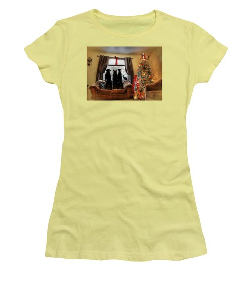 Do You Hear What I Hear Women's T-Shirt (Junior Cut) by Lori Deiter