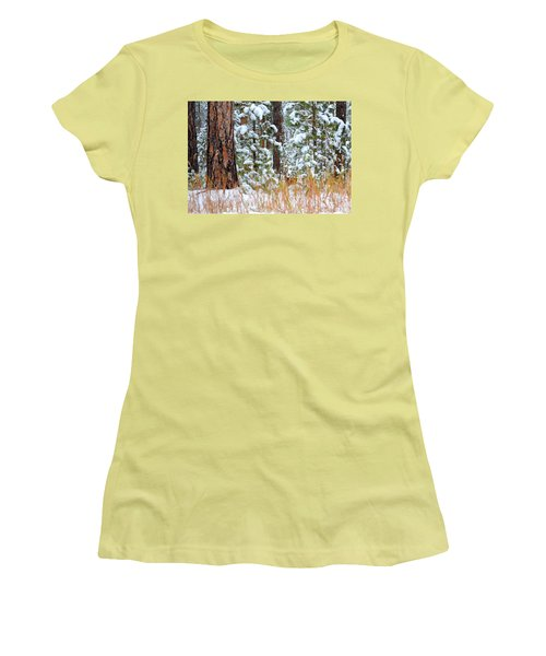 Women's T-Shirt (Junior Cut) featuring the photograph Do You See Me by Clarice  Lakota