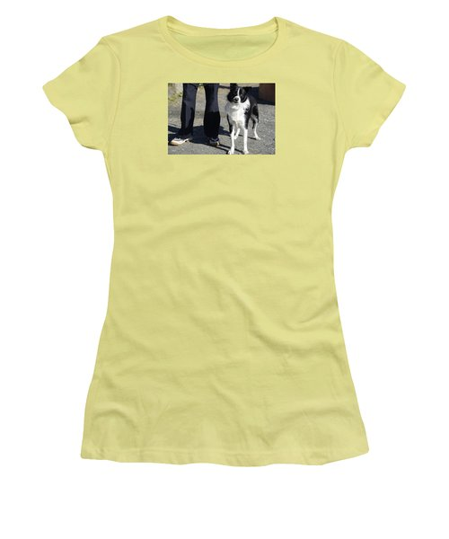 Women's T-Shirt (Junior Cut) featuring the photograph Dog And True Friendship 9 by Teo SITCHET-KANDA