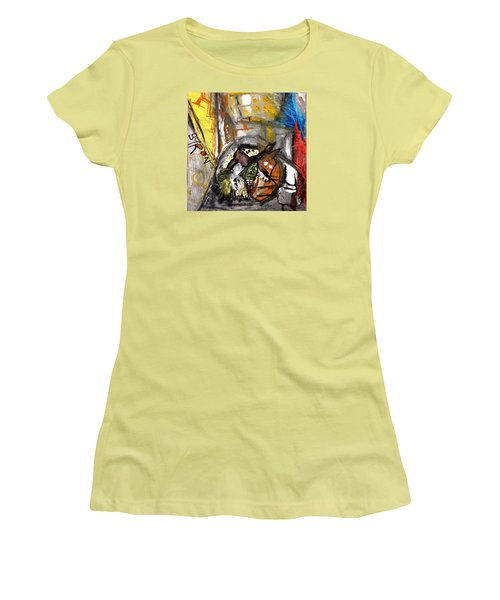 Women's T-Shirt (Junior Cut) featuring the drawing Dogs Dinner by Helen Syron