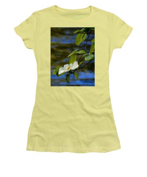 Dogwood On The Merced Women's T-Shirt (Junior Cut) by Bill Gallagher