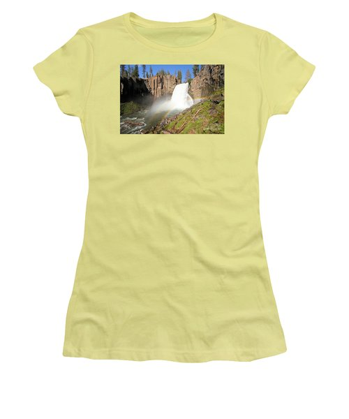 Double Rainbow Falls Women's T-Shirt (Junior Cut) by Adam Jewell
