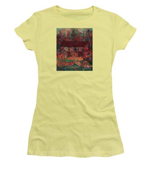 Dragon Hall Women's T-Shirt (Junior Cut) by Anna Yurasovsky