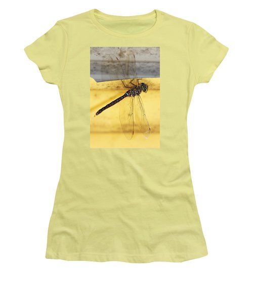 Women's T-Shirt (Junior Cut) featuring the photograph Dragonfly Web by Melanie Lankford Photography