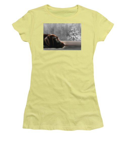 Dreamin' Of A White Christmas Women's T-Shirt (Junior Cut) by Lori Deiter