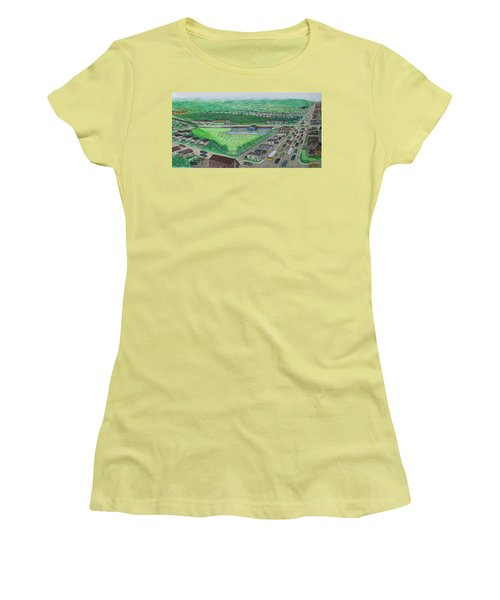 Dreamland Swimming Pool In Portsmouth Ohio 1950s Women's T-Shirt (Junior Cut) by Frank Hunter
