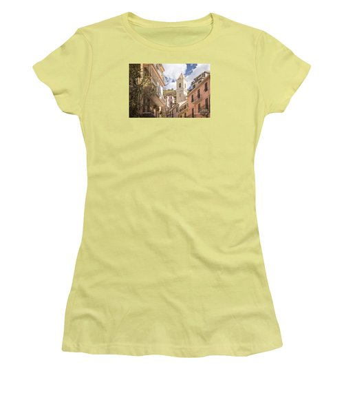 Duomo Bell Tower Of Manarola Women's T-Shirt (Athletic Fit)