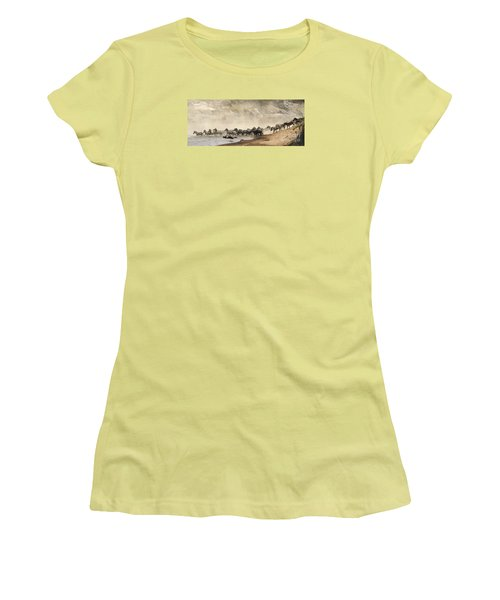 Women's T-Shirt (Junior Cut) featuring the photograph Dusty Crossing by Liz Leyden