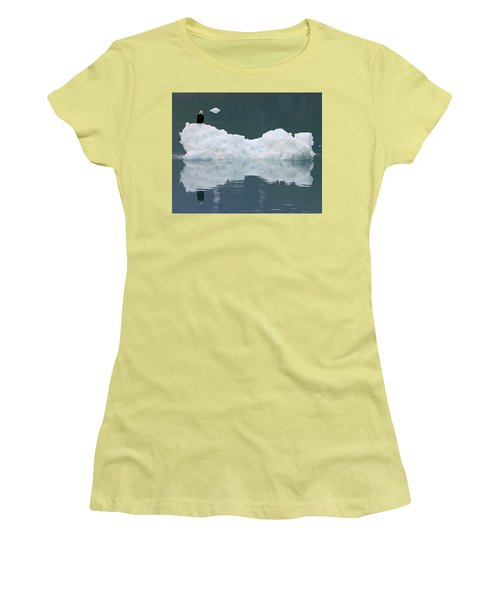 Eagle On Ice Women's T-Shirt (Junior Cut) by Shoal Hollingsworth