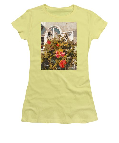 Alameda Roses Women's T-Shirt (Junior Cut) by Linda Weinstock