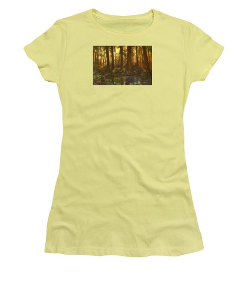 Early Morning Sun On Cannock Chase Women's T-Shirt (Junior Cut) by Jean Walker