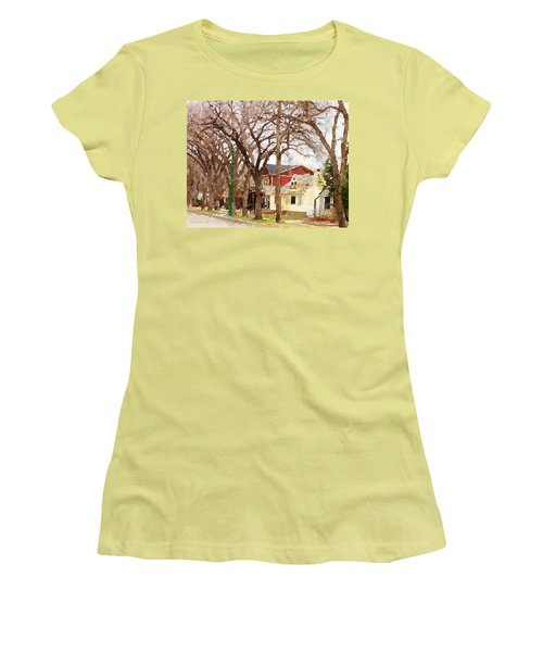 Early Spring Street Women's T-Shirt (Junior Cut) by Donald S Hall