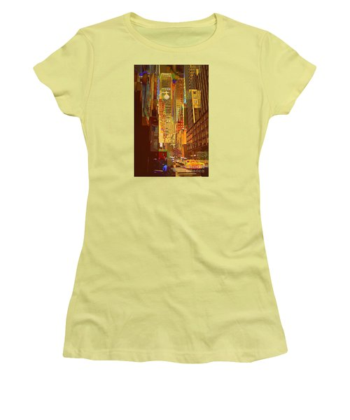 East 45th Street - New York City Women's T-Shirt (Junior Cut) by Miriam Danar