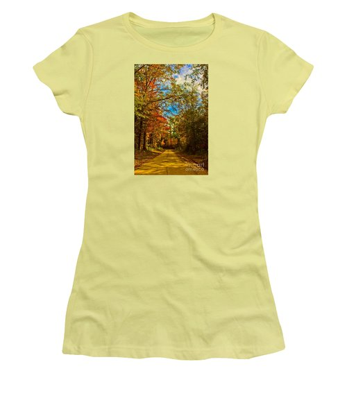 East Texas Back Roads Hdr Women's T-Shirt (Athletic Fit)