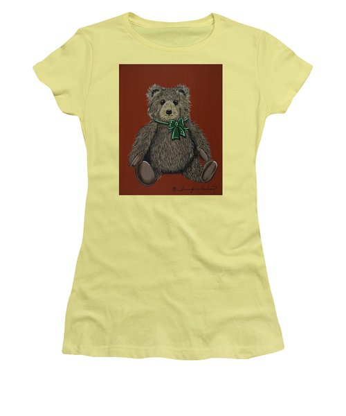 Women's T-Shirt (Junior Cut) featuring the painting Easton's Teddy by Jennifer Lake