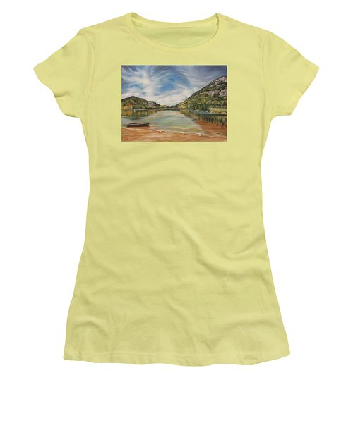 Echo Lake In Franconia Notch New Hampshire Women's T-Shirt (Athletic Fit)