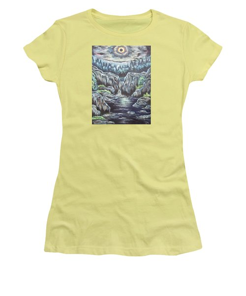 Eclipse 2 Women's T-Shirt (Junior Cut) by Cheryl Pettigrew