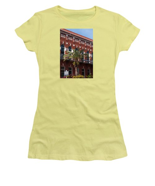 Women's T-Shirt (Junior Cut) featuring the photograph El Centro Espanol De Tampa by Paul Rebmann