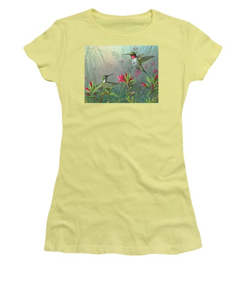Women's T-Shirt (Junior Cut) featuring the painting Elegance  by Mike Brown
