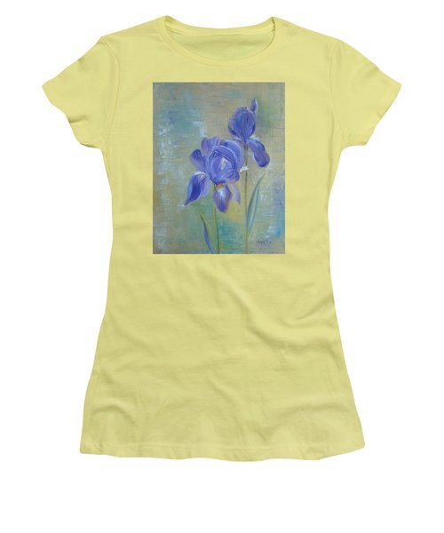 Elizabeth's Irises Women's T-Shirt (Junior Cut) by Judith Rhue