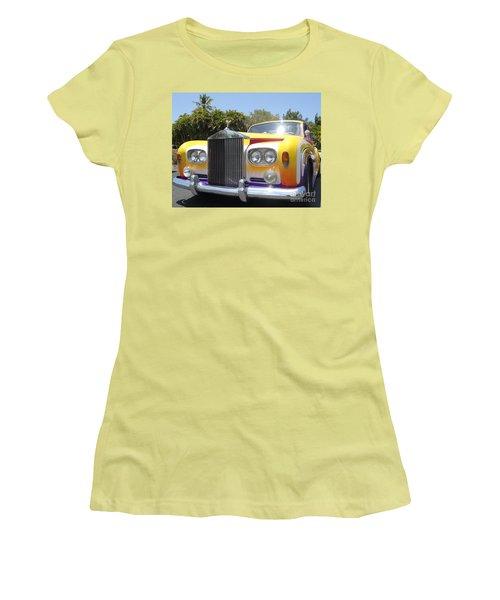 Elton John's Old Rolls Royce Women's T-Shirt (Junior Cut) by Barbie Corbett-Newmin