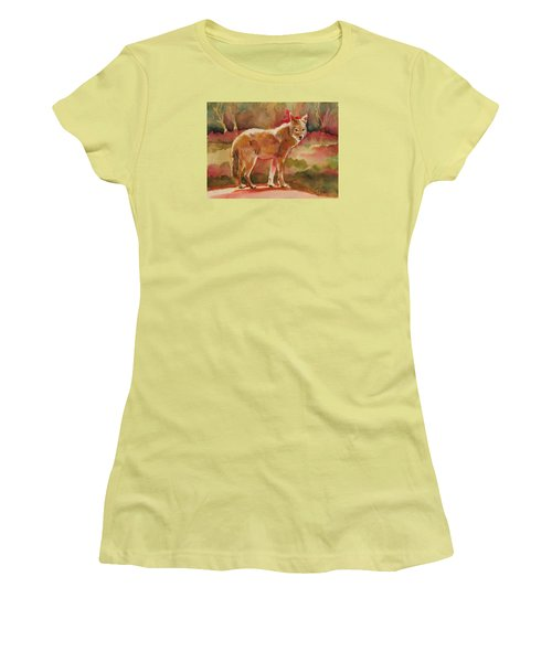 Elusive Visitor Women's T-Shirt (Junior Cut) by Pattie Wall