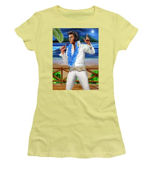 Elvis The Legend Women's T-Shirt (Junior Cut) by Glenn Holbrook
