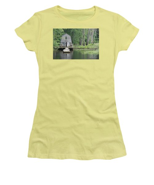 Emerson Boathouse Concord Massachusetts Women's T-Shirt (Athletic Fit)