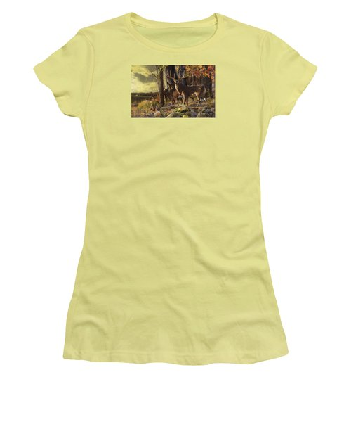 Eminence At The Forest Edge Women's T-Shirt (Junior Cut) by Rob Corsetti