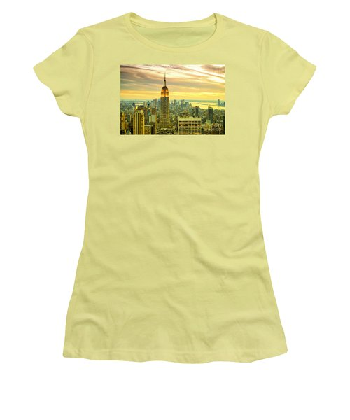 Empire State Building In The Evening Women's T-Shirt (Junior Cut) by Sabine Jacobs